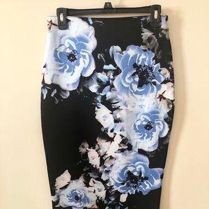 Apt. 9 Floral Scuba Stretch Skirt